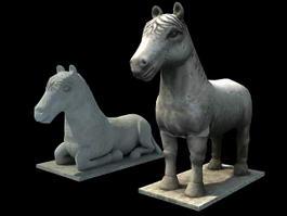 Ancient Horse Statue 3d model