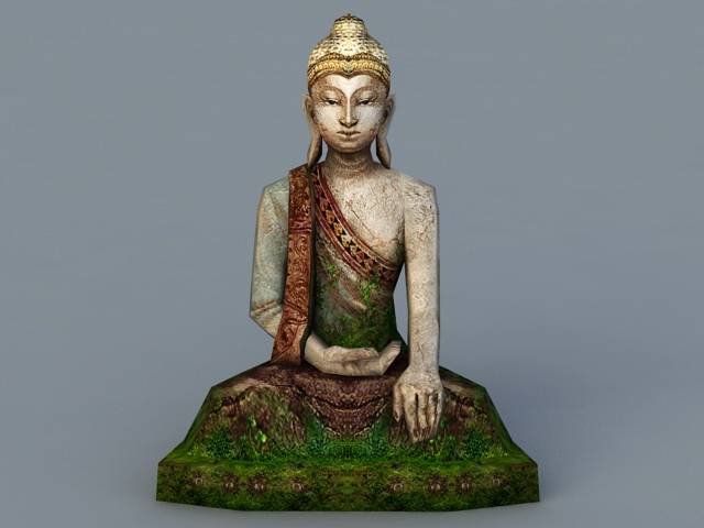 Ancient Buddha Statue 3d Model 3ds Max Files Free Download