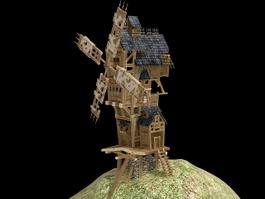 Medieval Windmill 3d model
