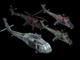 Army Helicopters 3d model