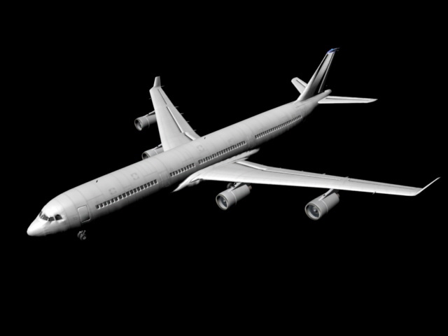 Airbus A340 Jet Airliner 3d model