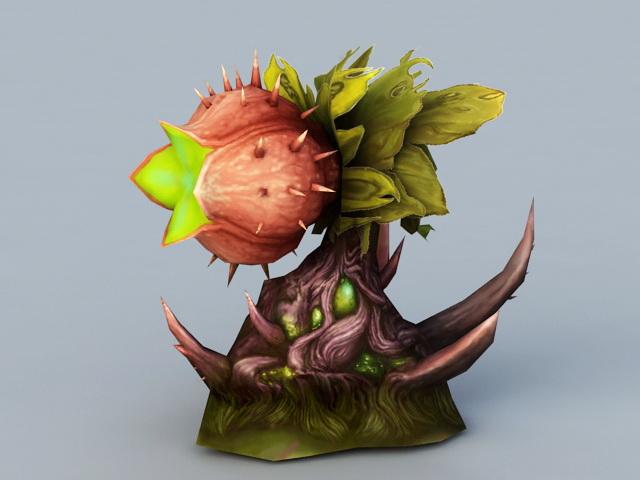 Meat-Eating Flower 3d model