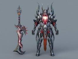 Demon Warrior Rig 3d model