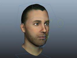 Man Head Rig 3d model