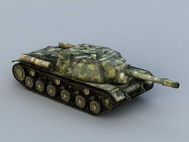 IS-152 Tank Destroyer 3d model