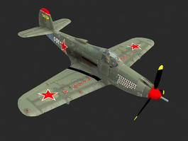 P-39 Airacobra Fighter Aircraft 3d model