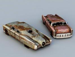 Old Junk Cars 3d model