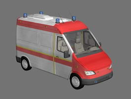 Small Ambulance 3d model