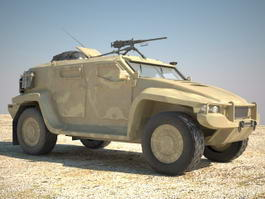 Hawkei Armoured Fighting Vehicle 3d model