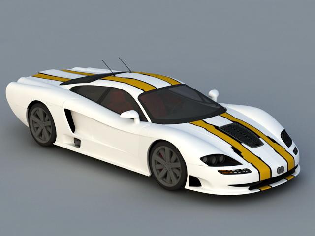 Exotic Sports Car 3d model