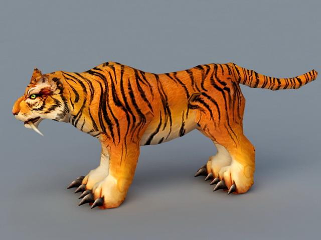 Siberian Tiger 3d rendering
