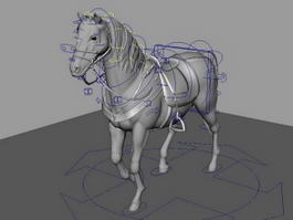 Battle Steed Rig 3d model