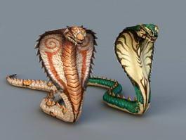Giant Cobra Monster 3d model