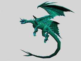 Beautiful Green Dragon 3d model
