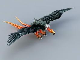 Carrion Vulture 3d model