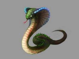 Cobra Snake Monster 3d model