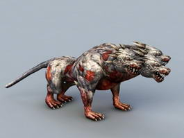 Three-Headed Wolf 3d model