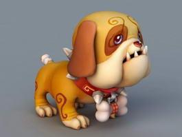 Cute Cartoon Dog 3d model
