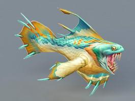 Piranha Monster 3d model