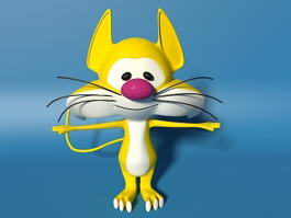 Yellow Cat Character 3d model