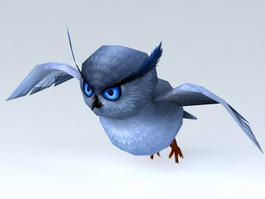 Cute Cartoon Owl 3d model