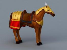 Mongolian War Horse 3d model