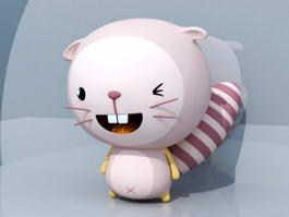 Cartoon Beaver Character 3d model