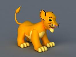 Chibi Simba 3d model