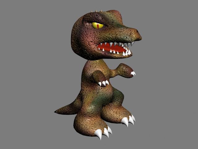 Scary Cartoon Dinosaur 3d model