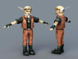 Senior Technician Cartoon 3d model