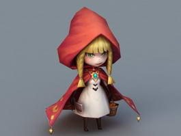 Little Red Riding Hood 3d model