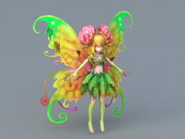 Flower Fairy Girl 3d model