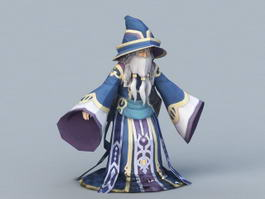 Cartoon Wizard 3d model