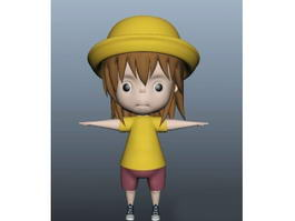 Cartoon Little Boy 3d model