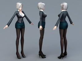 Beautiful Secretary 3d model