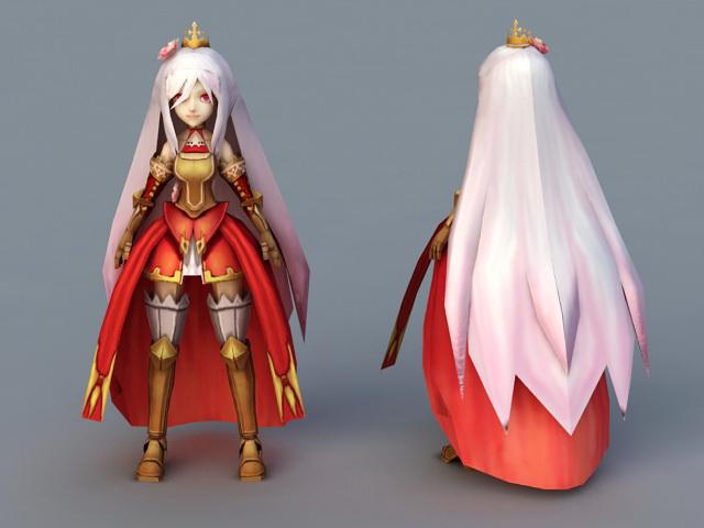 Anime Warrior Princess 3d model