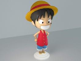 Monkey D. Luffy 3d model
