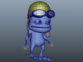 Cartoon Humanoid Frog 3d model