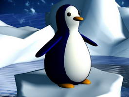 Glacier Penguin 3d model