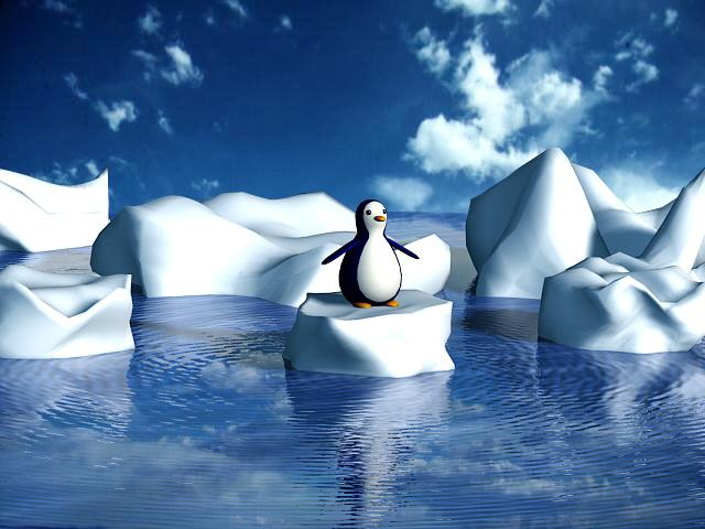 Glacier Penguin 3d model