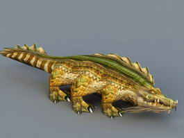 Crocodile Monster 3d model