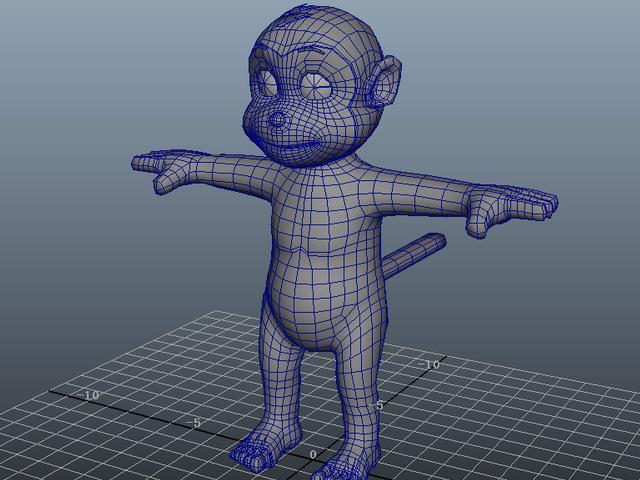 Cute Cartoon Monkey 3d Model Maya Files Free Download