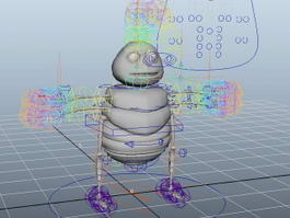 Cartoon Bug Rig 3d model
