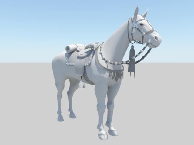 Middle Ages War Horse 3d model