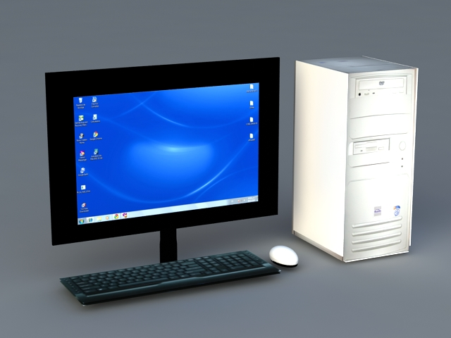 Old Desktop Computer 3d Model 3ds Max Files Free Download