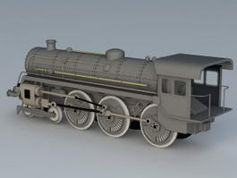 Old Steam Train 3d model
