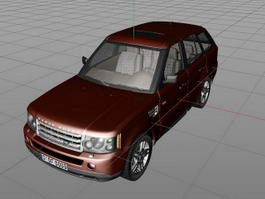 Red Range Rover 3d model