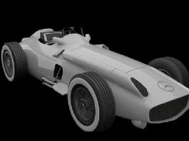 Mercedes-Benz W196R F1 3d preview
