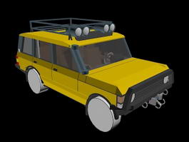1987Camel Trophy Range Rover 3d model
