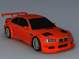 BMW Racing Car 3d model